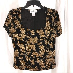 Vintage Ronni Nicole Gold Shimmer Top, size M